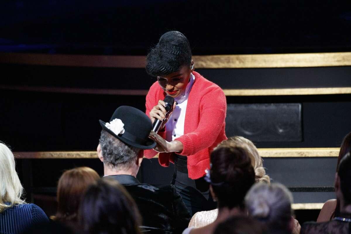 JanelleMonaeperforms atthe 92nd Oscars at Hollywood & Highland Center.