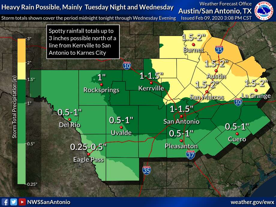 A cold front is on the way bringing a drop in temperatures and possible thunderstorms for the beginning of this week. Photo: Courtesy Of National Weather Service
