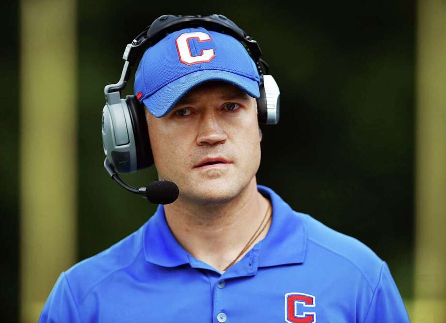 Former Coginchaug/Hale Ray/East Hampton football coach Erik Becker. Photo: Catherine Avalone / Hearst Connecticut Media / New Haven Register