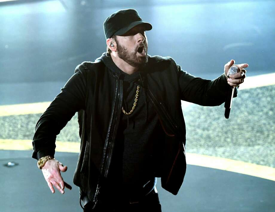 Eminem performs onstage during the 92nd Annual Academy Awards at Dolby Theatre on Feb. 9, 2020 in Hollywood.Click through the gallery for the best Twitter reactions to his surprising appearance. Photo: Kevin Winter/Getty Images