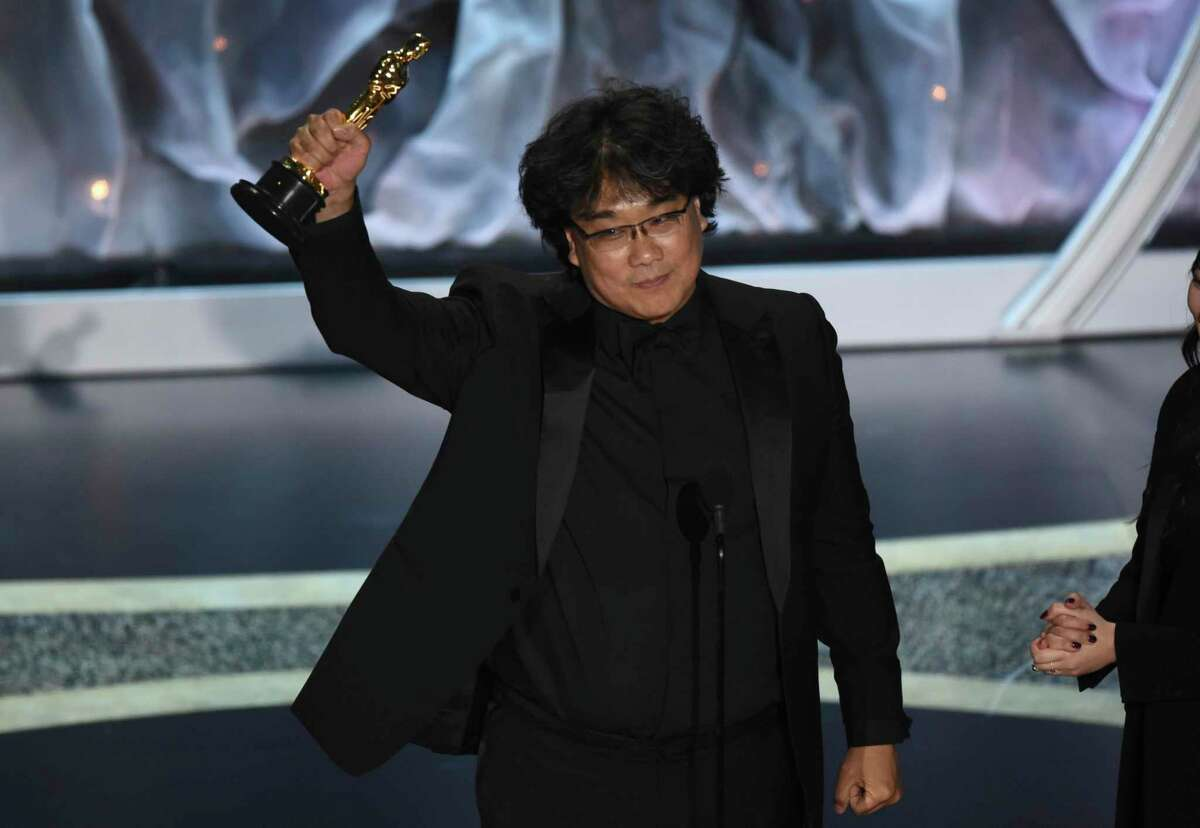 Bong Joon-ho accepts the award for best international feature film for