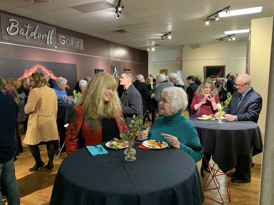 Community memberspaid tribute to former owner of The Pioneer Group, Jack Batdorff, at a celebration of his life at Artworks Saturday. (Pioneer photo/Cathie Crew)