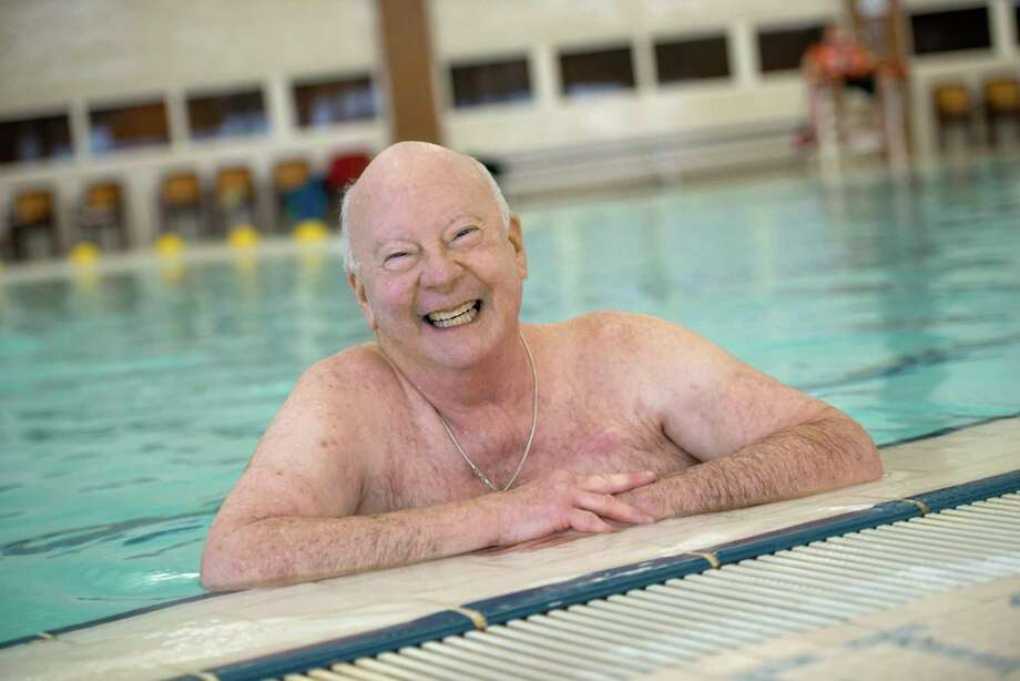Ed Hutchison enjoys staying active and swims frequently at the Greater Midland Community Center. (Photo provided/MidMichigan Health)