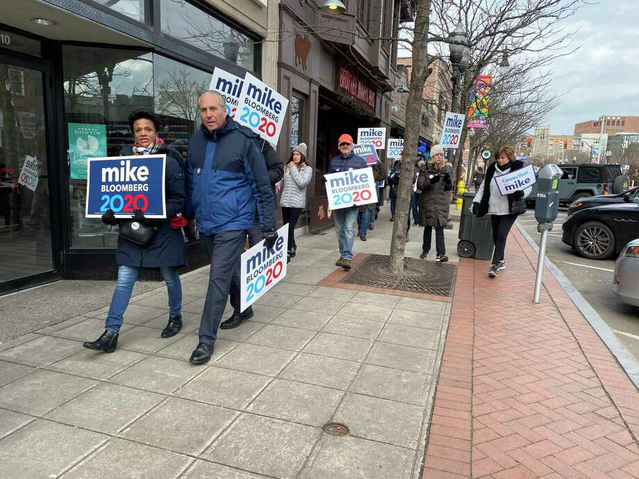 Mike Bloomberg's Campaign in Connecticut on Sunday held a volunteer canvassing event in Stamford with local supporters. Photo: Contributed