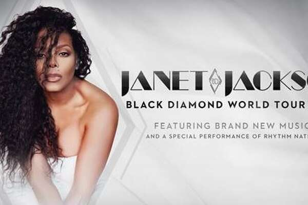 """Janet Jackson is bringing her Black Diamond Word Tour to the AT&T Center on Aug. 7. Miss Jackson will perform a new production, featuring new music, as well as hits from 12 of her multi-platinum albums and a """"special performance"""" of Rhythm Nation 1814, which recently marked its 30th anniversary."""