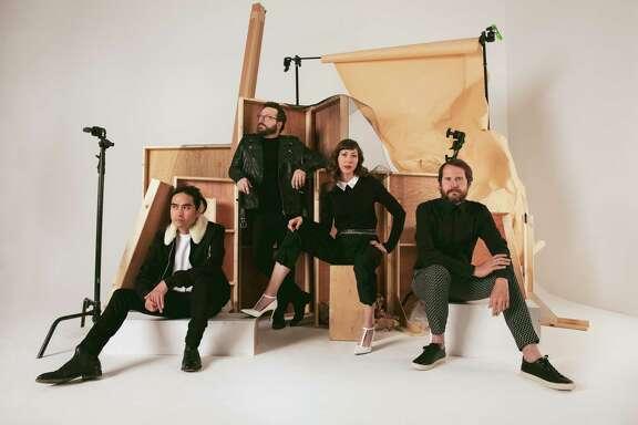 Rock band Silversun Pickups includes singer/guitarist Brian Aubert, singer/bassist Nikki Monninger, drummer Christopher Guanlao and Joe Lester on keyboards and electronics.