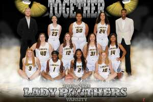 The Lady Panthers basketball team is on the verge of returning to the UIL state playoffs again after a one-year hiatus. Lady Panthers are from left, front row, Kennedy Evans, Cheyenne Williams, Drelyn Willis, and Reese Evans. Middle row, from left, Claire Bond, Olivia Moore, Kamryn Turner, and Aliyah Dugat. Back row, from left, Coach Chase Sylvia, Madyson Goudeau, Nailah Donatto, Morgan Vaughn, and Coach Justin Littlejohn.