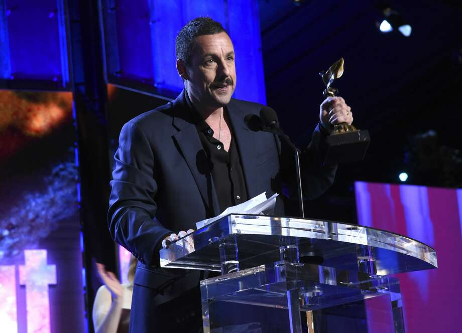 Adam Sandler accepts the Best Male Lead award for 'Uncut Gems' onstage during the 2020 Film Independent Spirit Awards on February 08, 2020 in Santa Monica, California. Photo: Michael Kovac/Getty Images