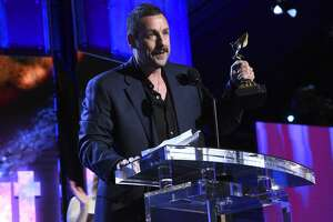 SANTA MONICA, CALIFORNIA - FEBRUARY 08: Adam Sandler accepts the Best Male Lead award for 'Uncut Gems' onstage during the 2020 Film Independent Spirit Awards on February 08, 2020 in Santa Monica, California. (Photo by Michael Kovac/Getty Images)