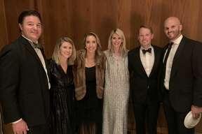 Coterie Club: Marcus and Hilary Majors, from left, Helen Sledge, Michelle Hofer, Stephen Hofer and Sam Sledge