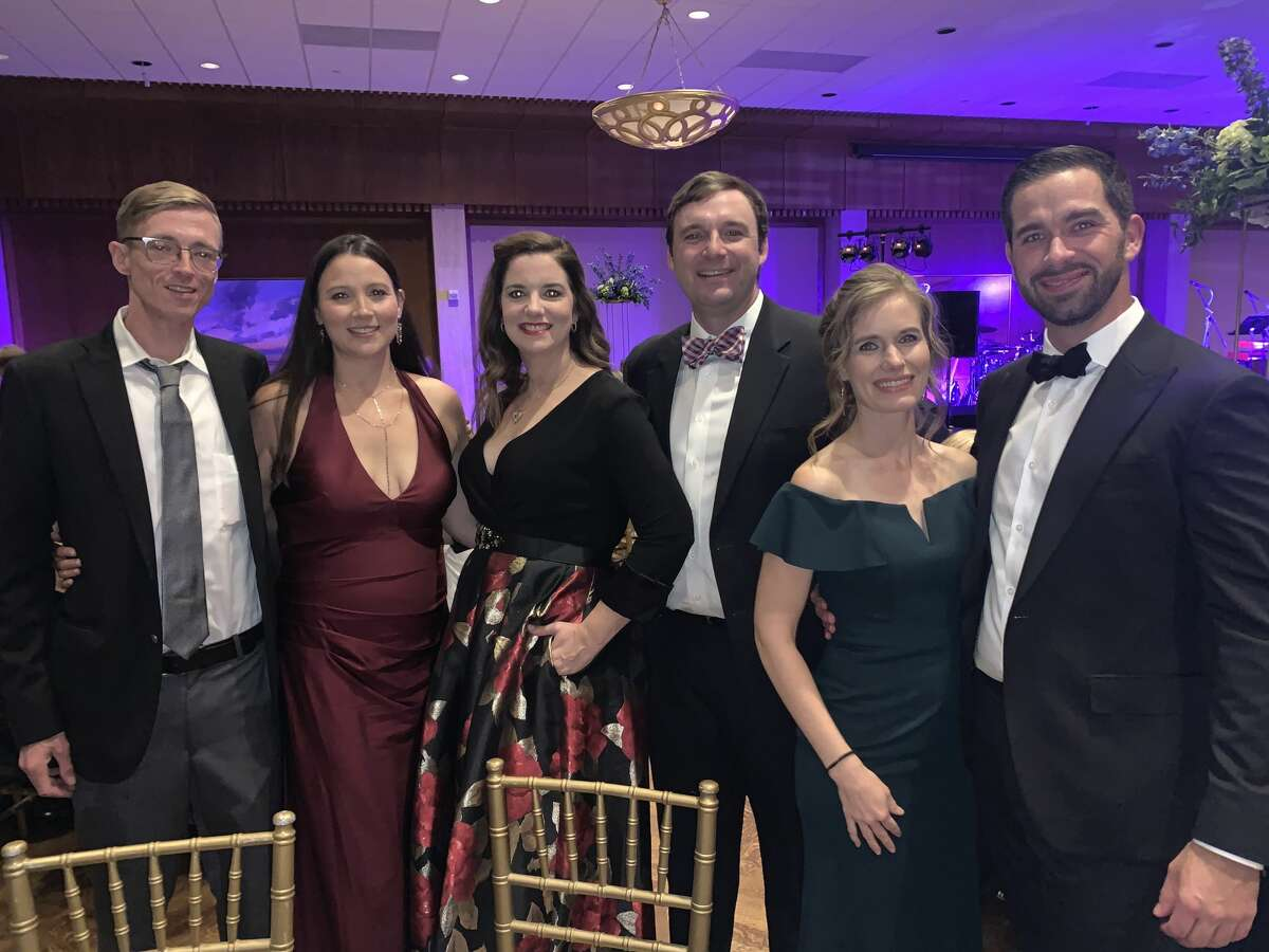 Coterie Club: T.C. and Amanda Byrom, from left, Elizabeth and Todd Moore, Victoria Kuzmich and Terrence Madlinger