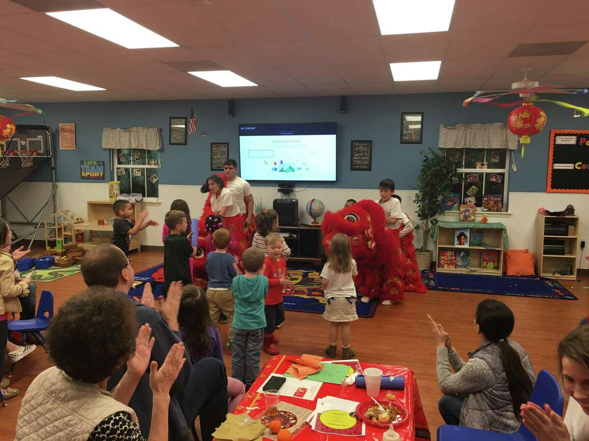 The Children's Lighthouse Learning Center of The Woodlands launched a new ancillary Madarin program in January, and kicked it off with a Chinese New Year themed party, complete with Lion dancers, music, and songs.