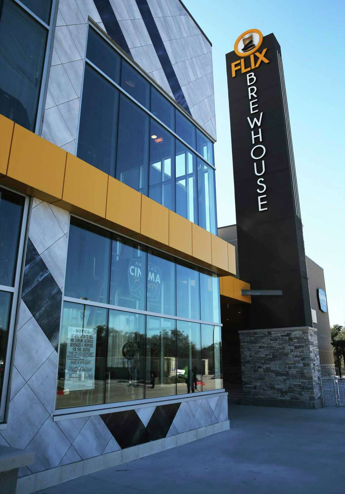 A first look at the new Flix Brewhouse dine-in movie theater, which opens Wednesday on San Antonio's far West Side. The Round Rock-based theater chain features an in-house microbrewery.