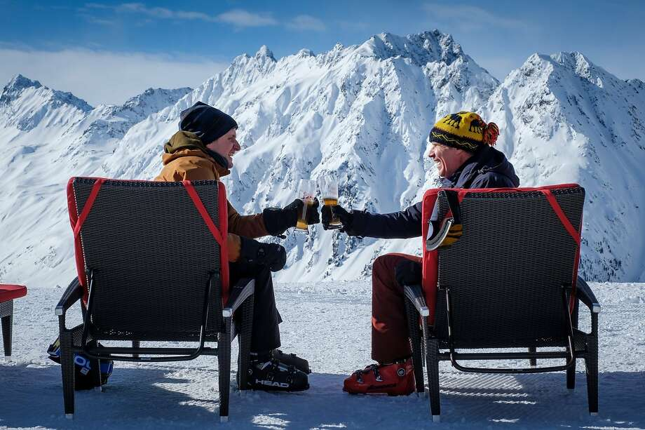 "This image released by Fox Searchlight shows Zach Woods and Will Ferrell in a scene from ""Downhill,"" a remake of the Swedish film ""Force Majeure.""  (Jaap Buitendijk/Fox Searchlight via AP) Photo: Jaap Buitendijk, Associated Press"