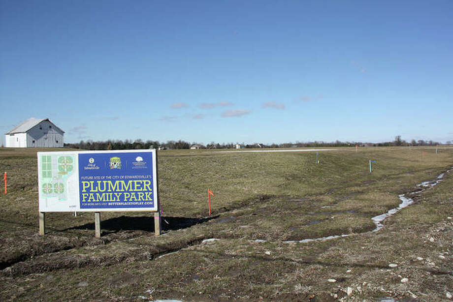 Plummer Family Park, shown here in February 2019 before any major construction began, lies within the city's Interstate 55 Corridor. Photo: Charles Bolinger|Intelligencer File Photo