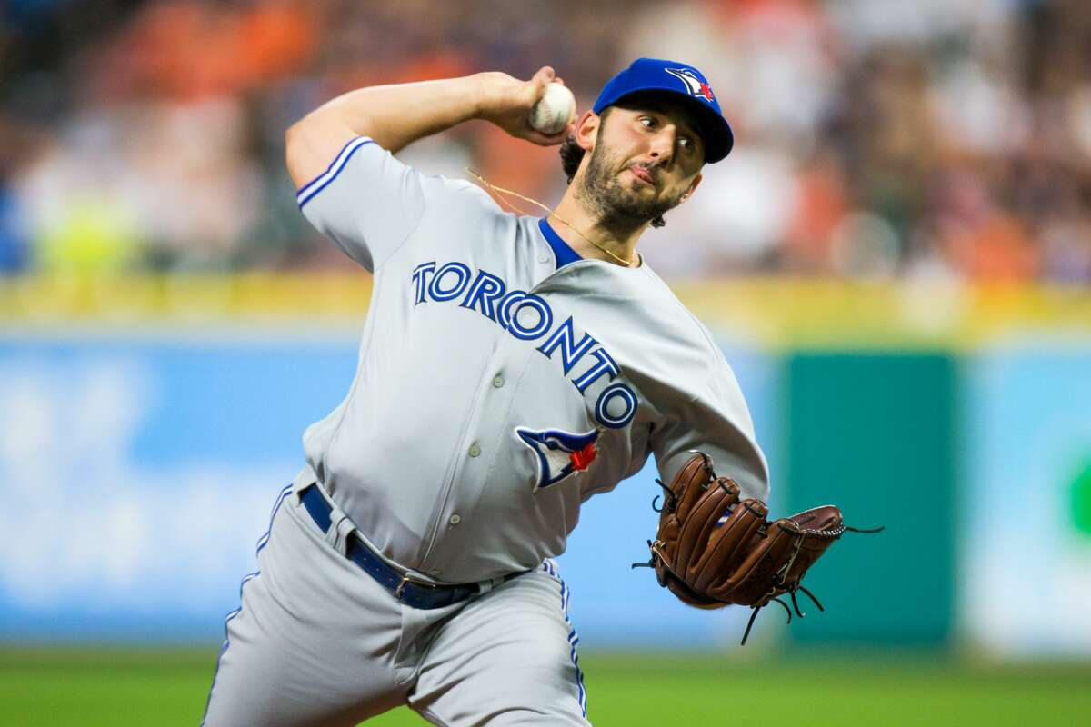 PHOTOS: How many trash can bangs each Astros player heard during the 2017 season Toronto's Mike Bolsinger recorded one out, walked three and gave up four earned runs in a 2017 game against the Astros at Minute Maid Park. It was Bolsinger's final game in the big leagues.