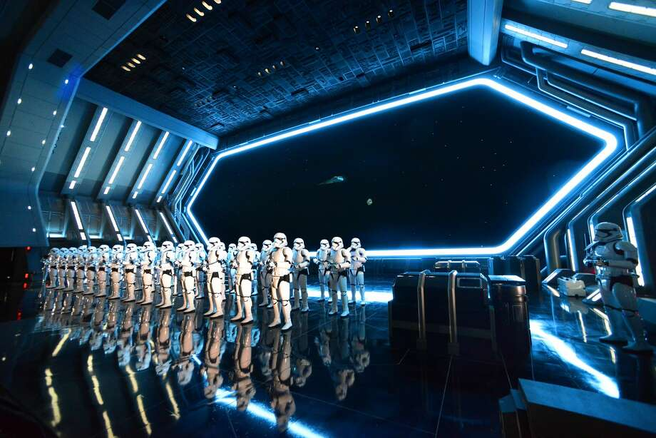 """General view of the """"Rise Of The Resistance"""" media preview at Galaxy's Edge at Disney's Hollywood Studios on December 4, 2019 in Orlando. Photo: Gerardo Mora/Getty Images"""