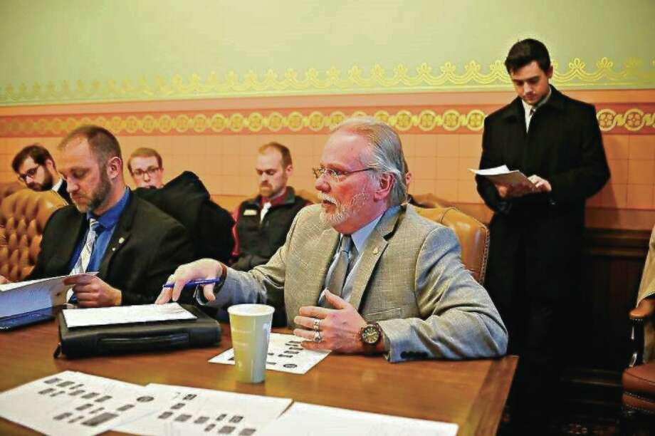 State Rep. Jack O'Malley participated in a roundtable discussion with several other lawmakers regarding soil erosion permits and plans to prevent future damage for families along Lake Michigan's shoreline. (Courtesy Photo)