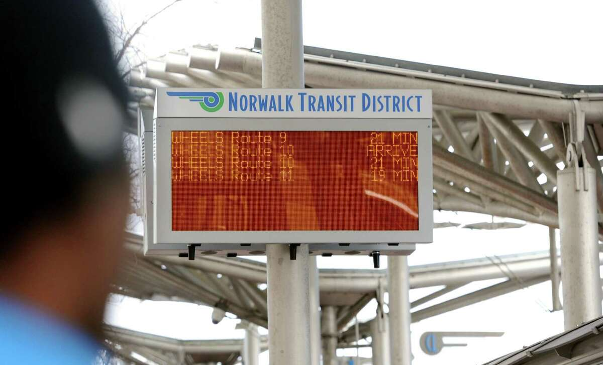 A Bridgeport woman has been accused of headbutting a police officer Saturday at the Norwalk bus station.