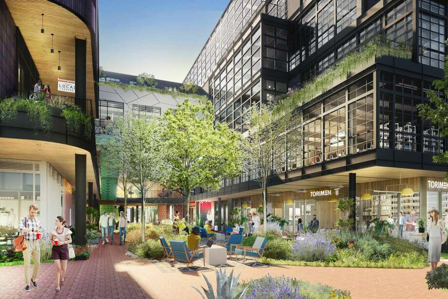 Montrose Collective will have more than 150,000 square feet of office space, retail, restaurants and a public library. Photo: Courtesy Of MSOA And Radom Capital