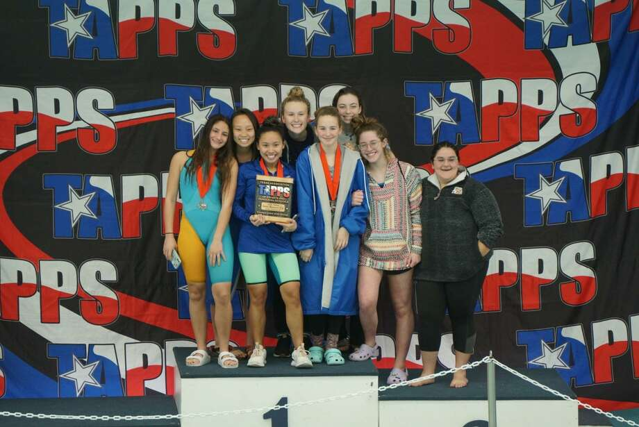 The Frassati Catholic girls swimming team took home second place in the TAPPS Division II State Championships, Feb. 6. Photo: Frassati Catholic