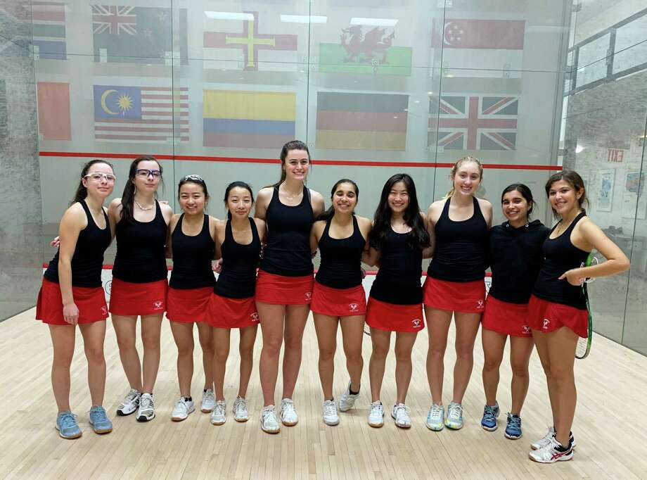 Greenwich High School's girls club squash team posted a regular season record of 13-1 and will soon compete in the U.S. High School Team Squash Championships in Hartford. Photo: Contributed Photo