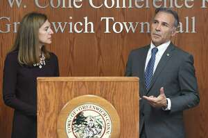 Connecticut Lt. Gov. Susan Bysiewicz and Greenwich First Selectman Fred Camillo spoke in February about the importance of filling out the census.
