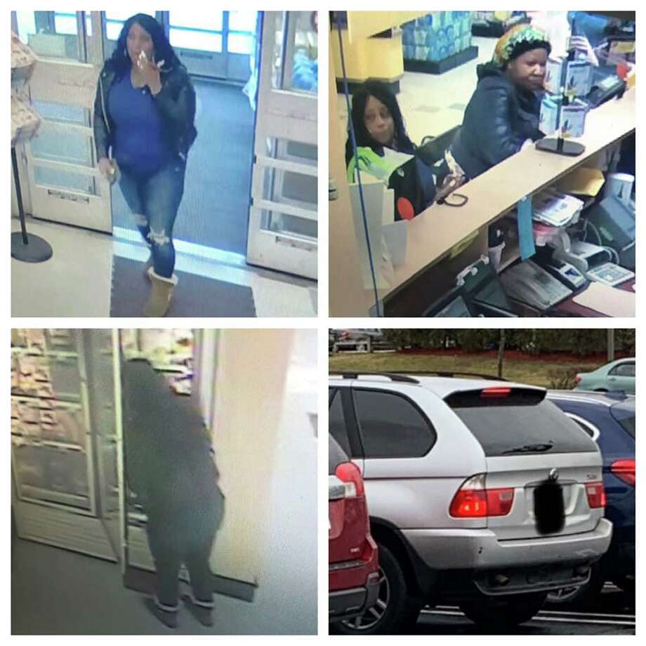 North Haven police are looking to identify two women after they allegedly fraudulently returned shrimp at Stop & Shop. Photo: North Haven Police Department
