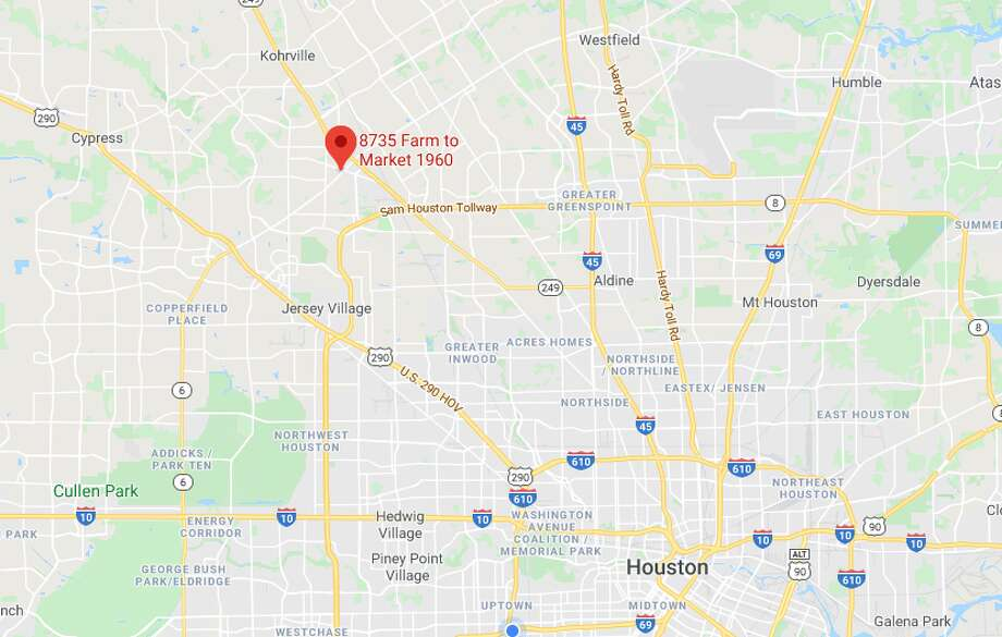 A man was hit and killed Monday by a driver in the 8700 block of FM1960 in far northwest Houston, police said. Photo: Google Maps