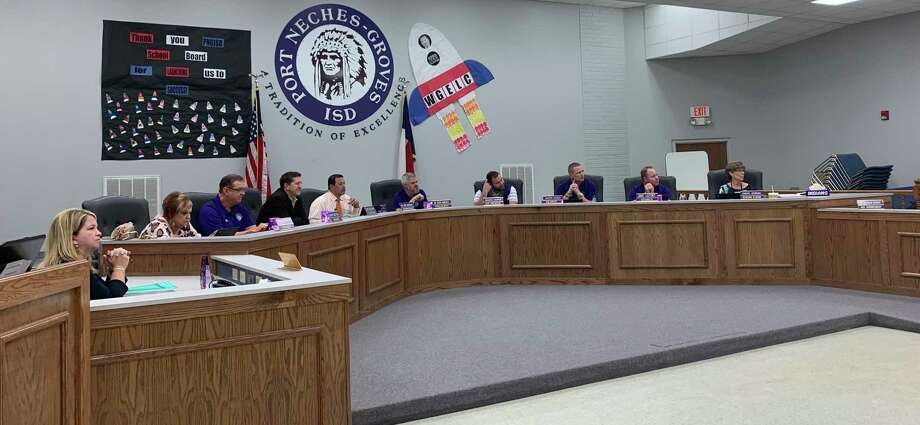 The Port Neches-Groves ISD School Board meets on Feb. 10, 2020 Photo: Isaac Windes