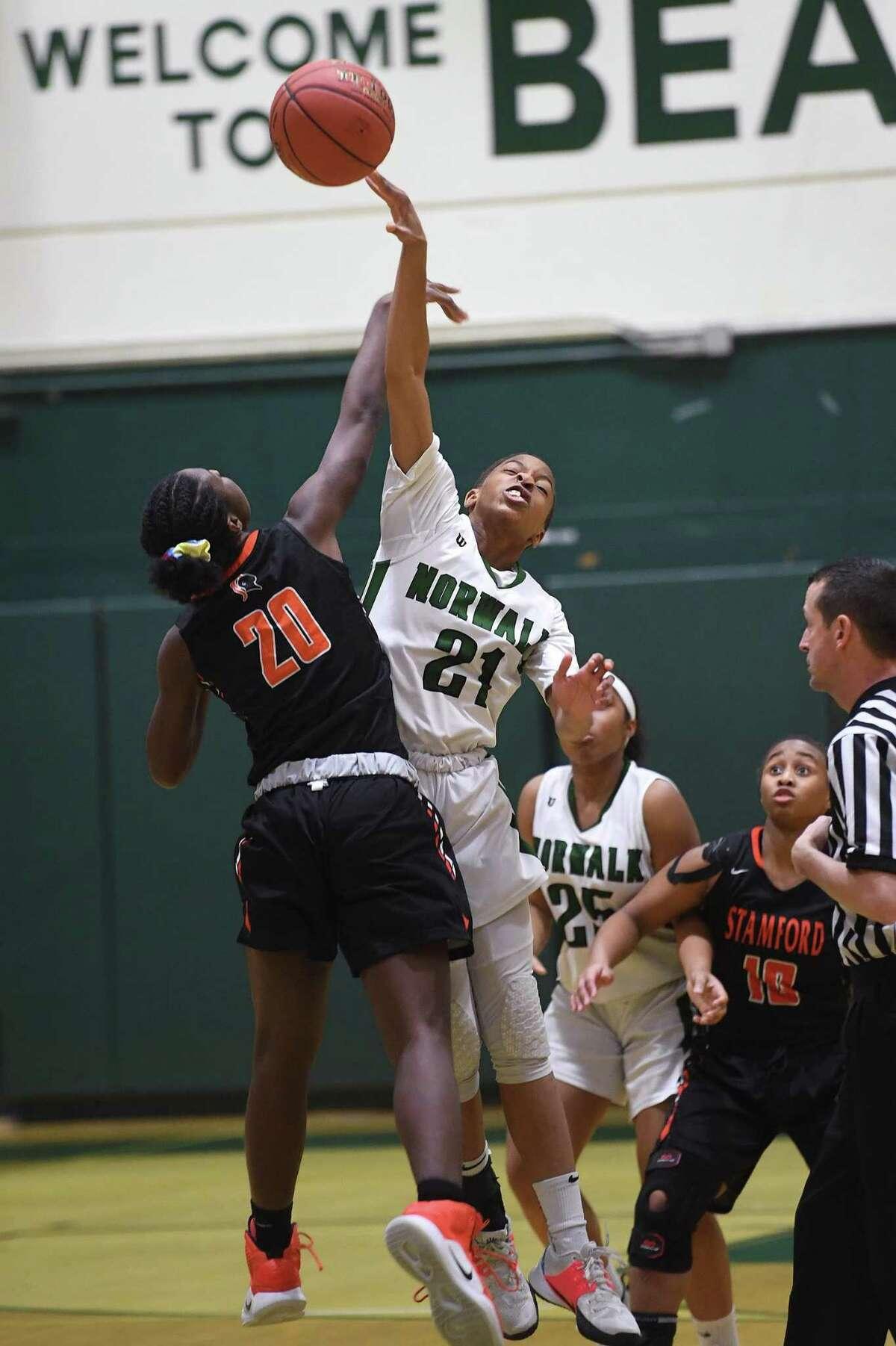Norwalk defeats Stamford in girls basketball at Norwalk High School in Norwalk, Conn. on Monday, February10, 2020.