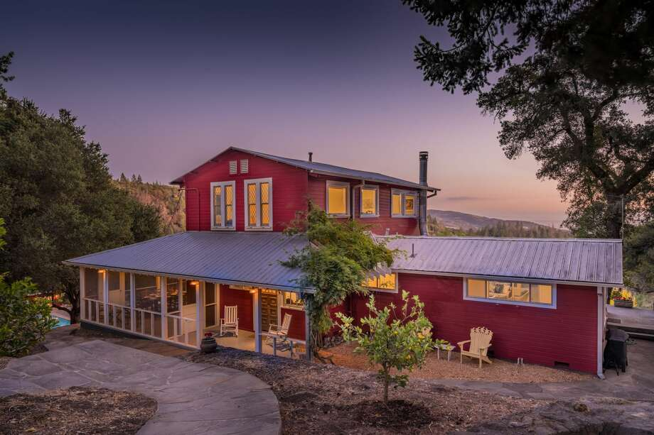 A five-bedroom, two-bathroom farmhouse built in 1905 is part of the Castle Road Estate in Sonoma. Photo: Courtesy Compass
