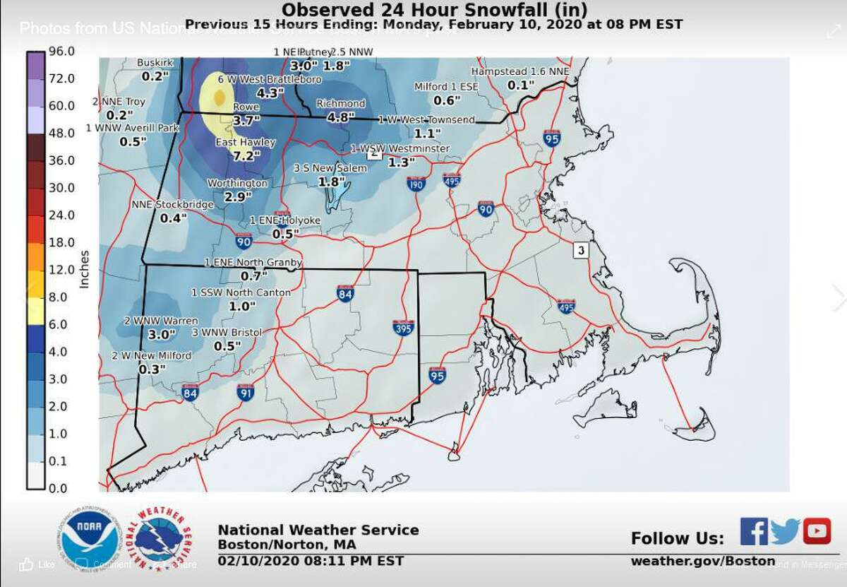 In case you were interested in looking back at what snowfall amounts fell Sunday night-Monday, here you go! See reports listed here: https://forecast.weather.gov/product.php?site=BOX&product=PNS&issuedby=BOX