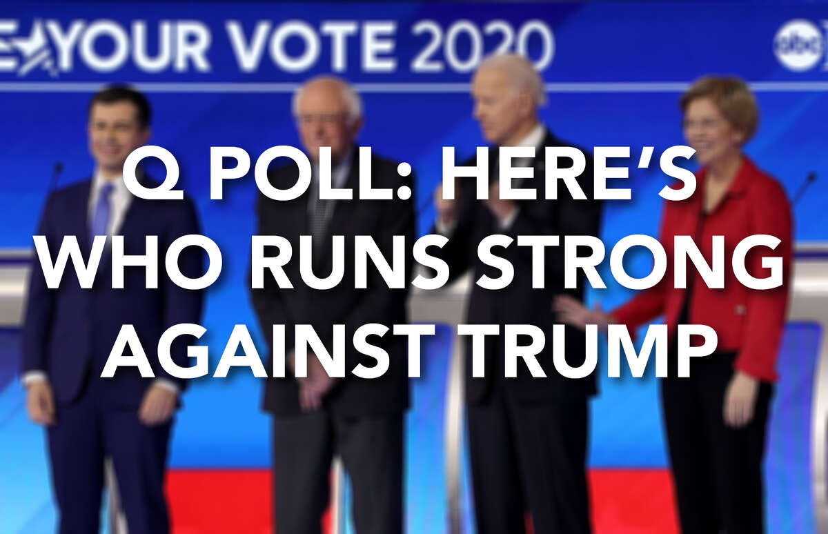 Among all registered voters, these Democratic candidates lead President Donald Trump in general election matchups by between 4 and 9 percentage points, according to a February 2020 Q Poll.
