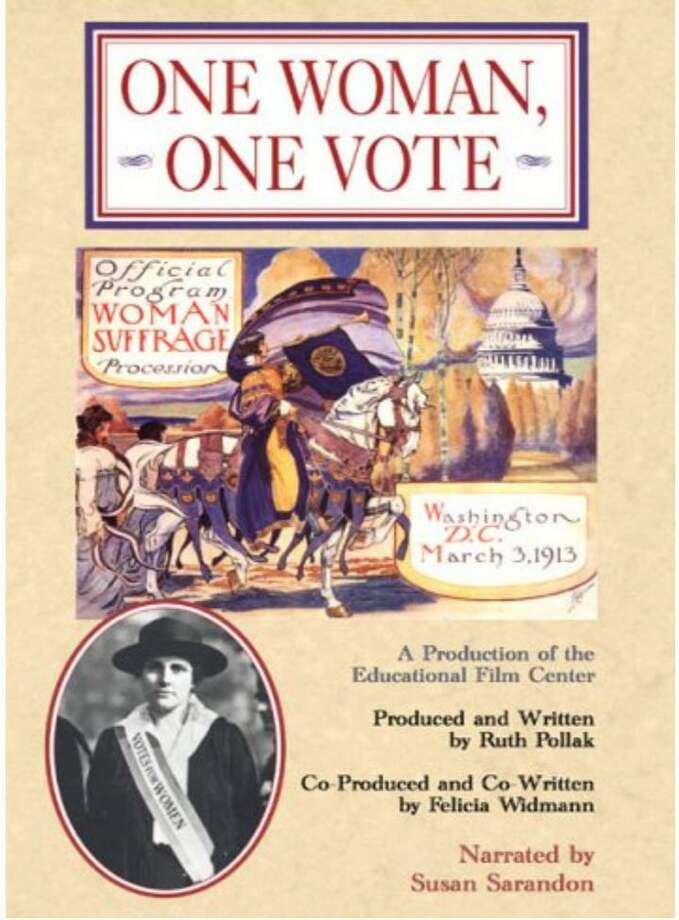 The League of Women Voters is screening One Woman, One Vote, a woman's suffrage documentary, on March 1. Photo: Contributed