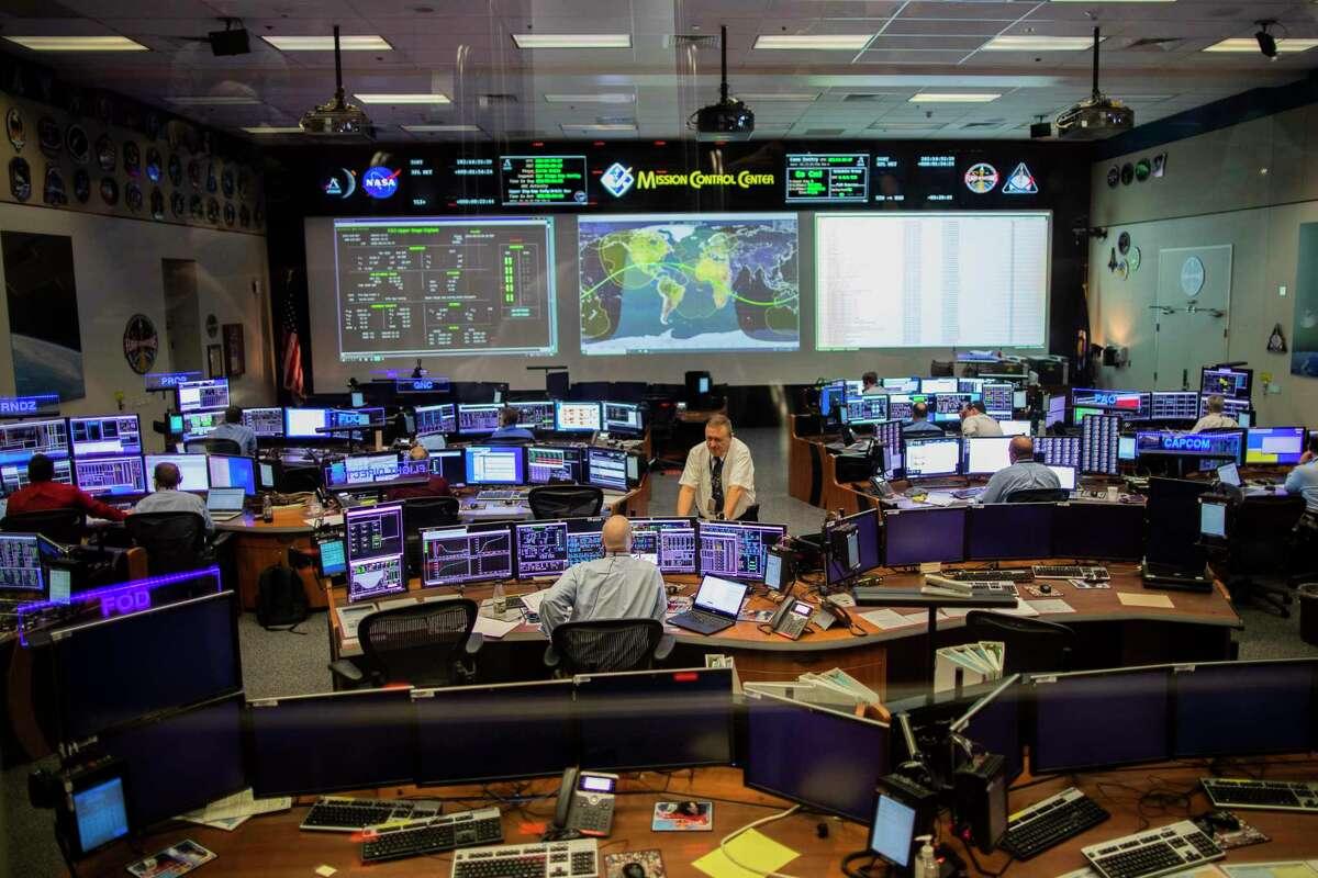 NASA's Johnson Space Center Mission Control White Flight Control Room on Monday, Feb. 10, 2020, in Houston.