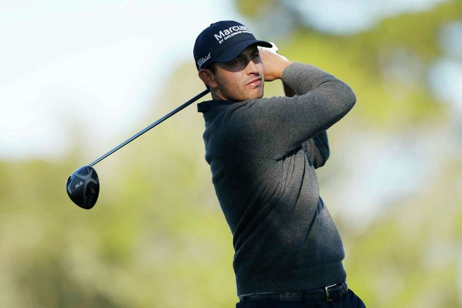 Patrick Cantlay of the United States plays his shot from the second tee during the final round of the AT&T Pebble Beach Pro-Am at Pebble Beach Golf Links on Sunday. Photo: Michael Reaves / Getty Images / 2019 Getty Images