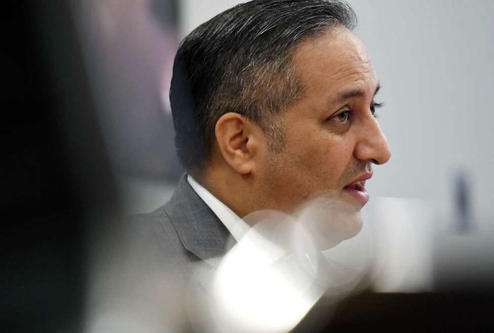 Canada?•s Acting Consul General, Khawar Nasim is interviewed on Tuesday, Feb. 11, 2020, at the Times Union in Colonie, N.Y. The Canadian delegate is in Albany for a two-day visit focused on the Canada-New York partnership. (Will Waldron/Times Union)