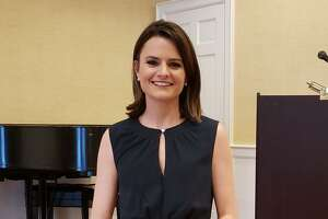 """Darien native Laura Thoren Podesta, a CBS News correspondent, spoke at the Darien Community Association monthly women's luncheon on Tuesday, Feb. 4, on """"Embracing Rejection - Lessons on the Word 'No.'"""""""