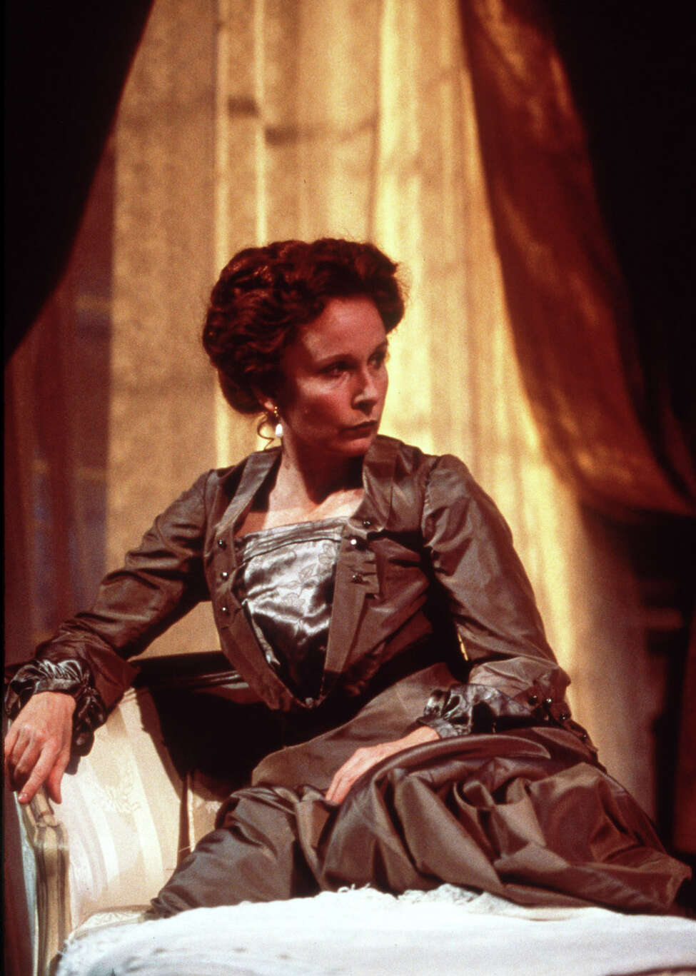 Kate Burton plays the title role in the revival of Ibsen's 'Hedda Gabler,' currently playing at Broadway's Ambassador Theatre. Broadway grosses, buoyed by the arrival of fall shows, have climbed steadily since the first weekend after the attacks. Last week, total grosses rose to $11.9 million, not far off from business before Sept. 11. (AP Photo/ Boneau/Bryan-Brown/Charles Erickson) .