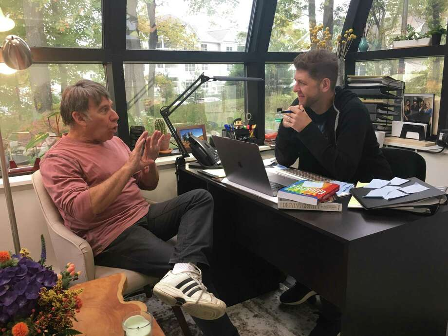 Stephen Schwartz and Daniel C. Levine in ACT's office. Photo: Contributed Photo