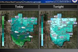 It will be a cold and wintry day across SE New Mexico and West Texas, with a wintry mix possible today across SE New Mexico, and light freezing rain/freezing drizzle across the northern Basin. Wintry precipitation will overspread the region tonight, with a wintry mix of snow, sleet, and freezing rain across much of the area. Greatest accumulations will be across the Guadalupe and Delaware Mountains and SE New Mexico.