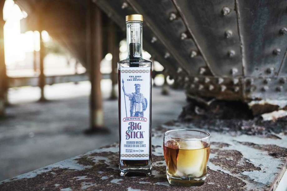 Katy-based Semper Fi Big Stick Bourbon uses an oak stake to create a unique flavor profile. Photo: Courtesy Of Mike Ryan