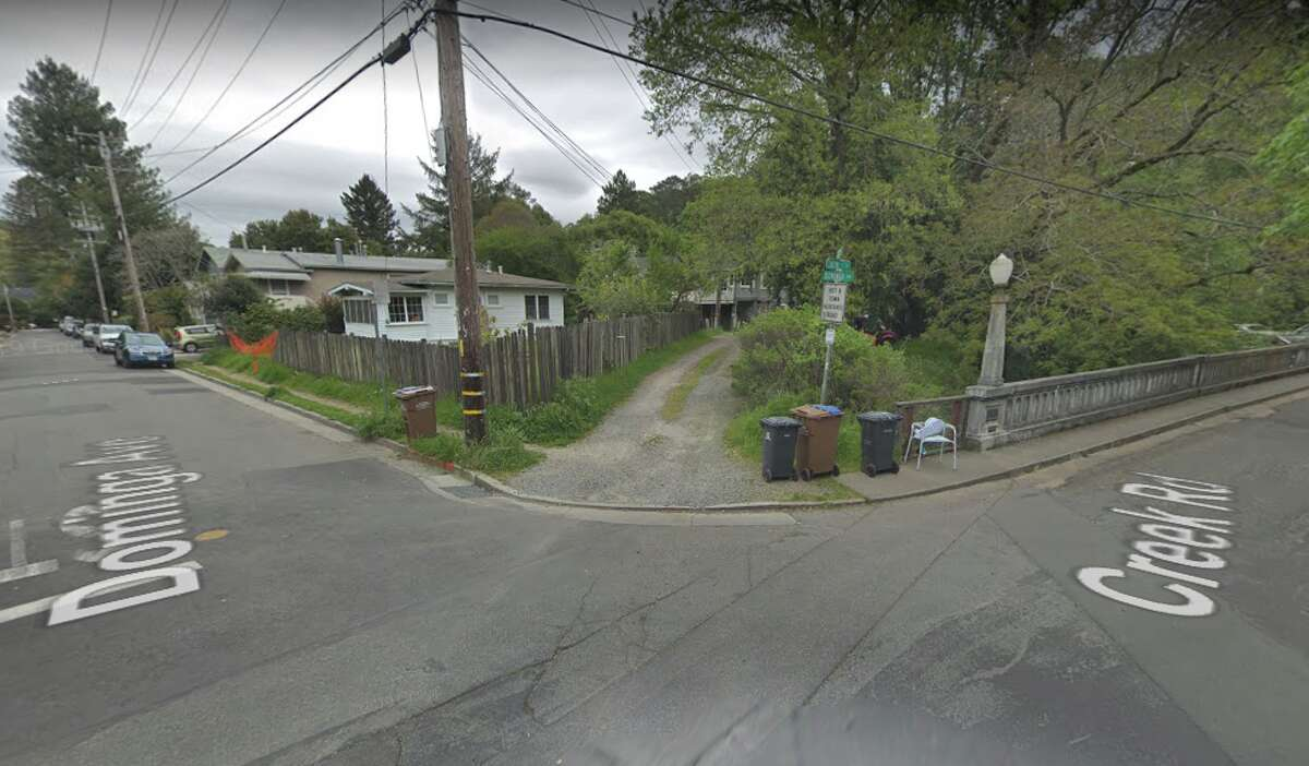 A Marin County man died Friday after his electric scooter collided with a car near this intersection in Fairfax.