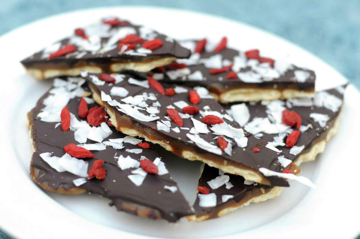 Chocolate Coconut Goji Berry Toffee