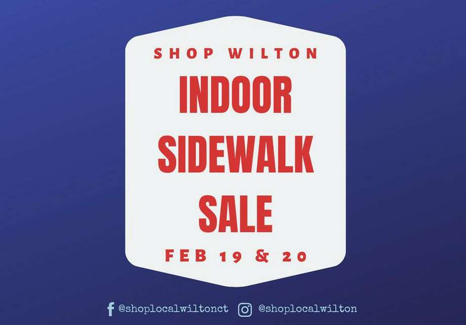 An indoor sidewalk sale is being held at Old Town Hall, 68 Ridgefield Road, Wilton on Wednesday, Feb. 19 and Thursday, Feb. 20.