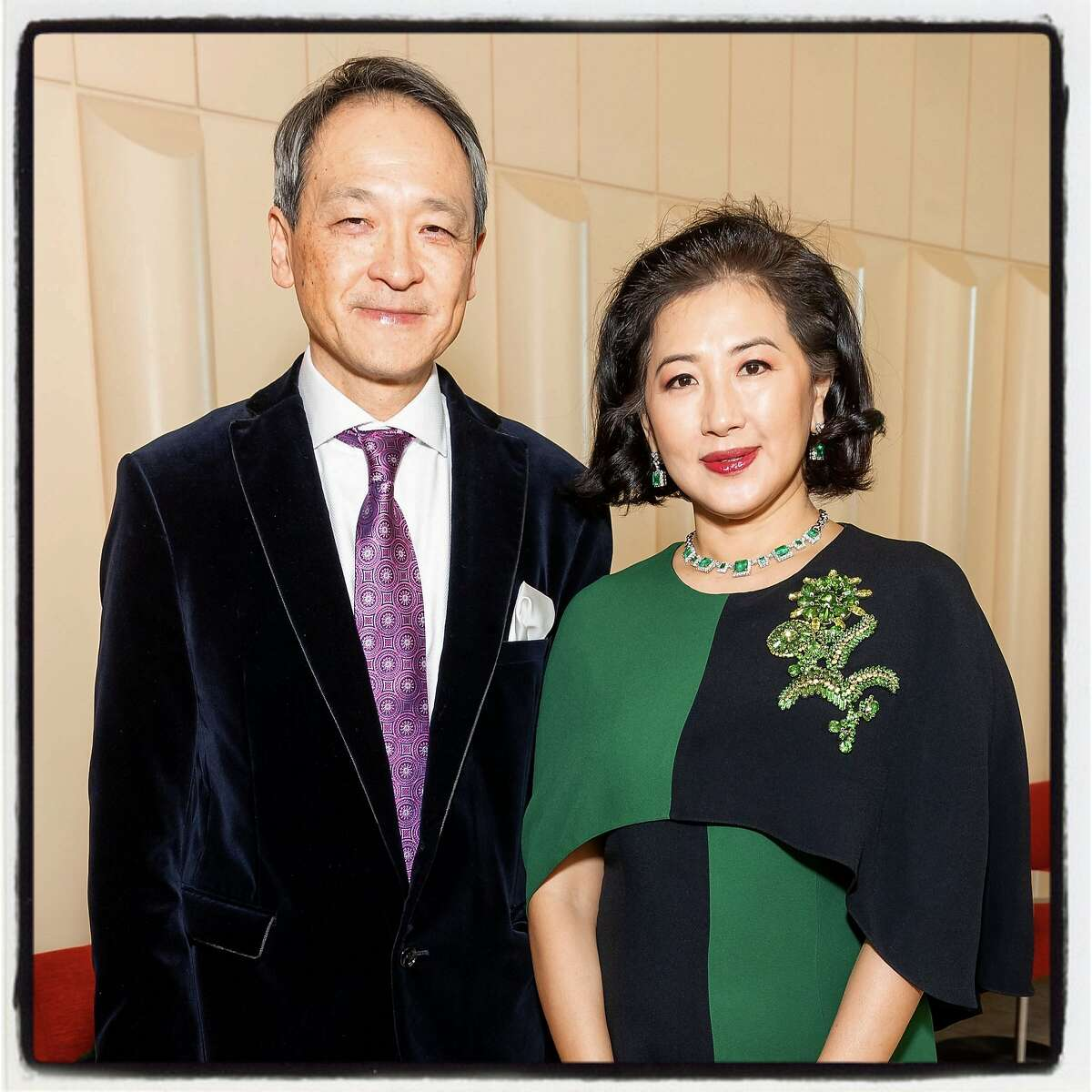 SF Symphony Chinese New Year event chairs Lawrence Lui and Gorretti Lo Lui at Davies Hall. Feb. 1, 2020.