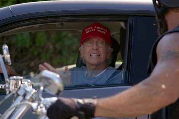 "Larry David wears a MAGA hat in the first episode of season 10 of ""Curb Your Enthusiasm"" in order to get out of awkward social situations."