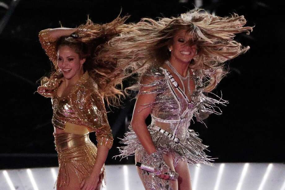 Singers Shakira, left, and Jennifer Lopez, put on quite a unique show during the Super Bowl halftime. But critiques about their outfits and performances reflected tired double standards when it comes to gender. Photo: Charlie Riedel /Associated Press / Copyright 2020 The Associated Press. All rights reserved.