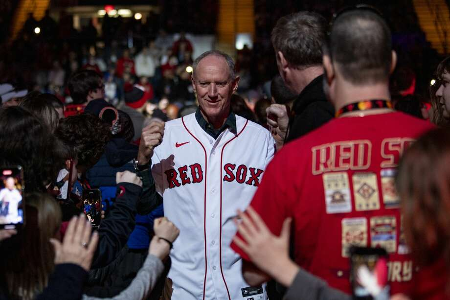 SPRINGFIELD, MA - JANUARY 17: Bench coach Ron Roenicke of the Boston Red Sox high fives fans as he is introduced during the Boston Red Sox NESN Town Hall during the 2020 Red Sox Winter Weekend on January 17, 2020 at MGM Springfield and MassMutual Center in Springfield, Massachusetts. (Photo by Billie Weiss/Boston Red Sox/Getty Images) Photo: Billie Weiss/Boston Red Sox/Getty Images